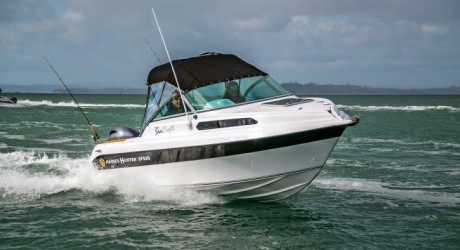 This is a nimble and reassuring boat to drive, the deep-vee hull showing its pedigree with excellent manners and a soft, dry ride. | Haines hunter