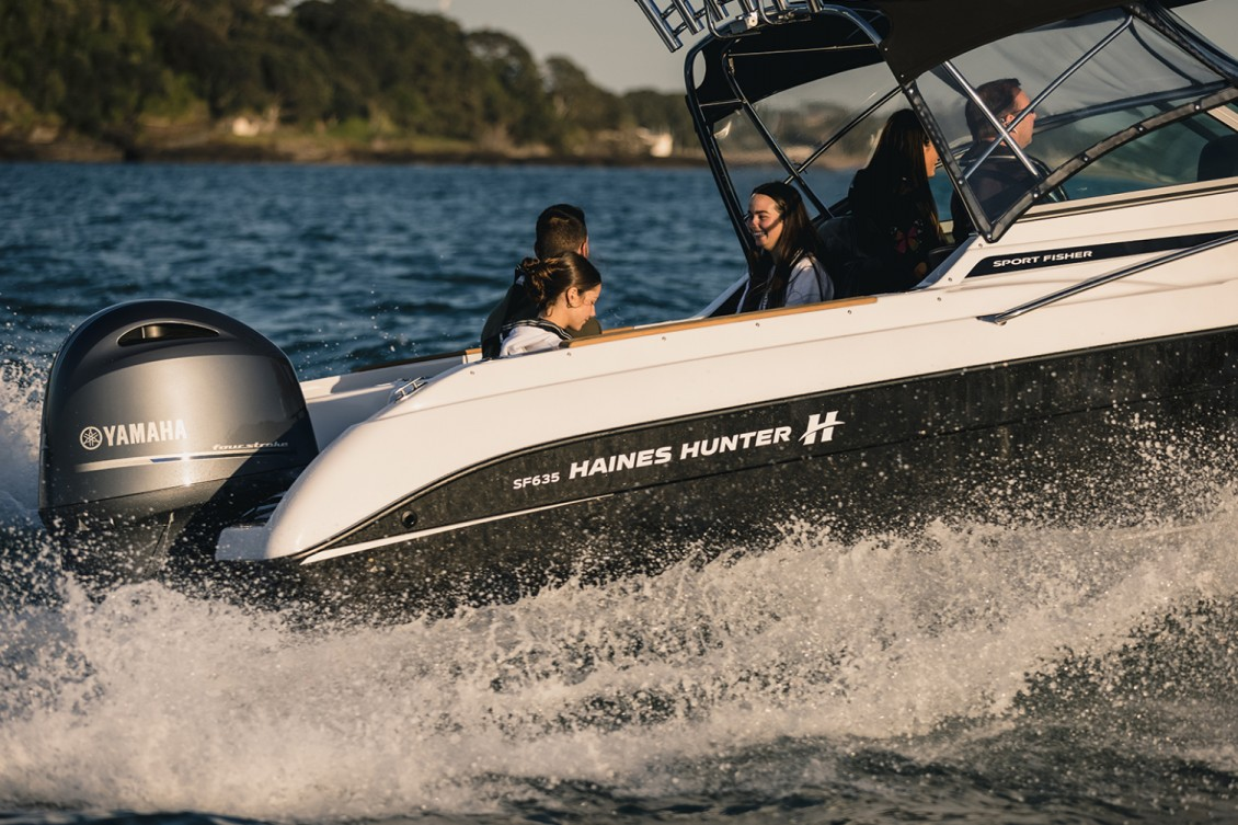 Recommended horsepower is 150-200hp | Haines Hunter