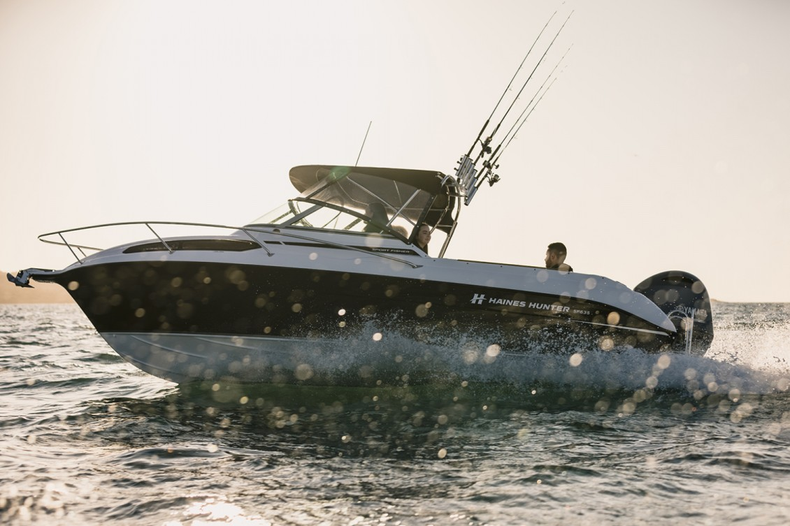The SF635's legendary Haines Hunter Deep V hull is set at precisely 21° | Haines Hunter