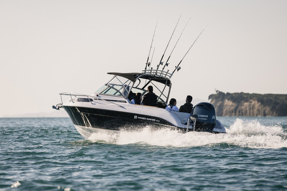 """Longitudinal """"strakes"""" provide lift and throw spray away from the boat – keeping the deck dry 