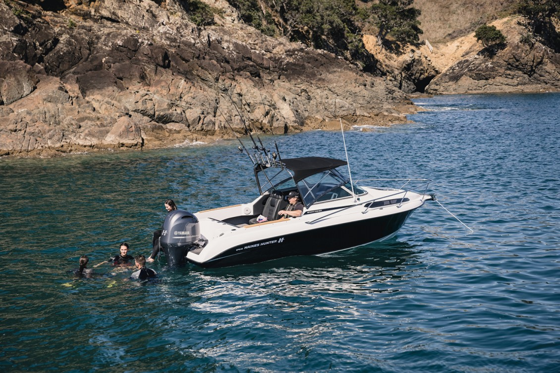 Diving, swimming, water skiing, biscuiting or just relaxing...the 635 can do it all. | Haines Hunter