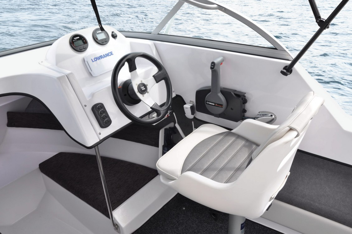 Ergonomic Dash. Choice of pedestal or back-to-back seats. | Haines Hunter