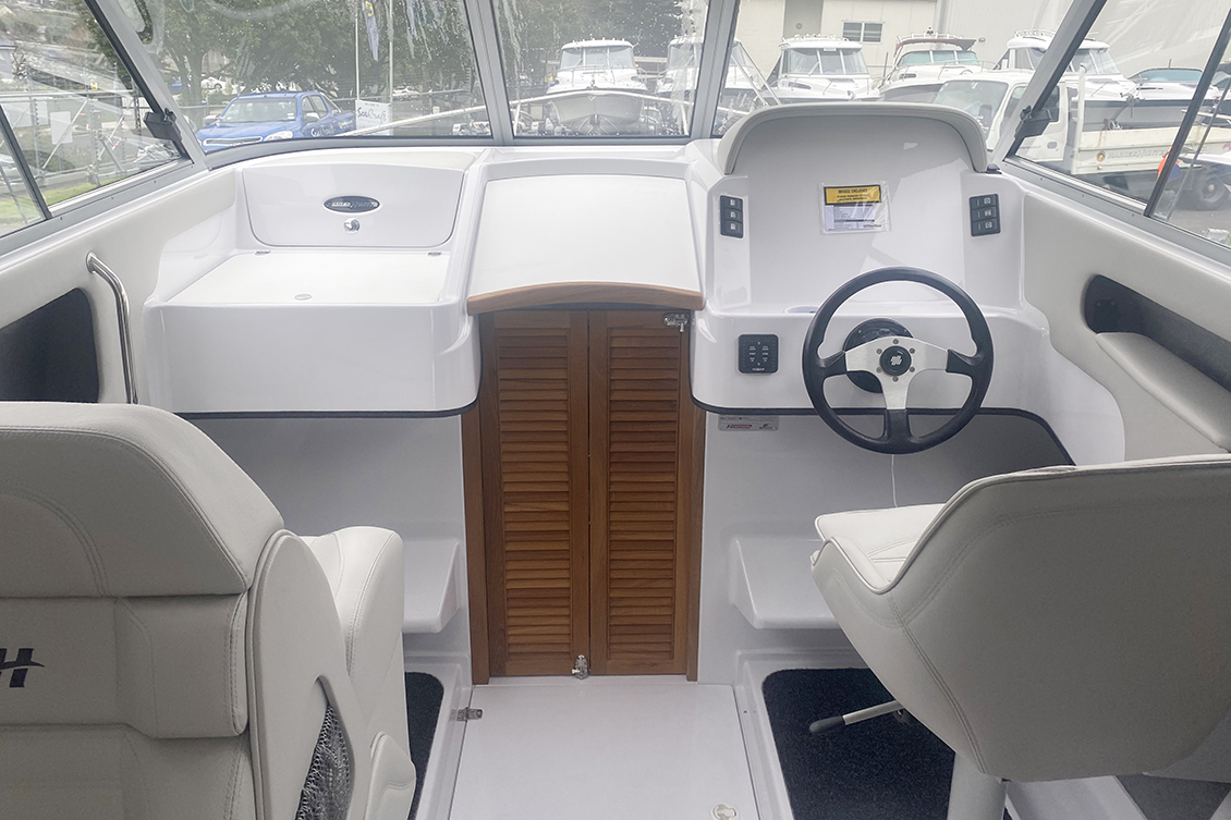 The SS725 is available with open or closed cabin (725c) | Haines Hunter